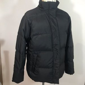 LL Bean women's small, black down jacket.